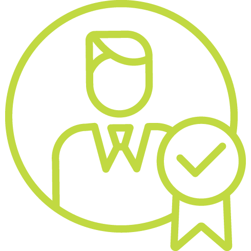 pictogramme de personnel qualifié