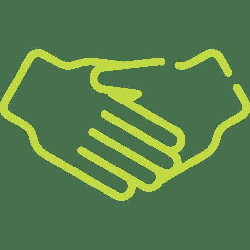 pictogramme de poignée de main