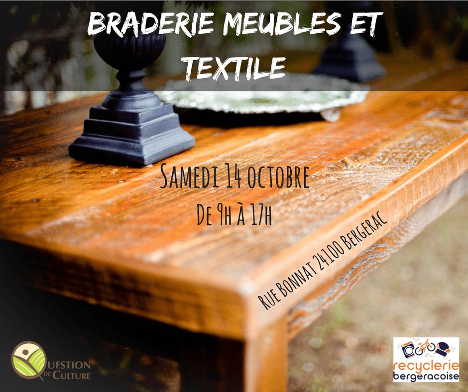 Braderie meuble et textile samedi 14 octobre